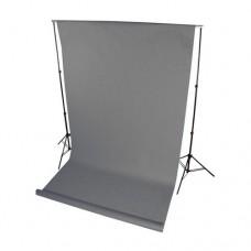 Бумажный фон серый 1м