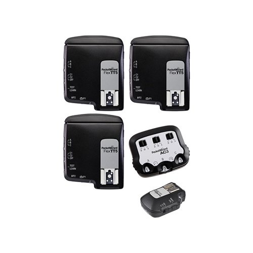 PocketWizard FlexTT5+MiniTT1+AC3 for Canon kit 3