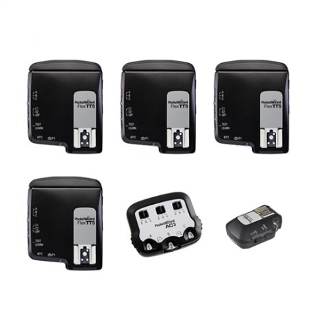 PocketWizard FlexTT5+MiniTT1+AC3 for Canon kit 4